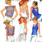 McCall's Sewing Pattern 2035 Misses' Size 6 Easy Knit Suntops Tops Back Details