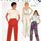 McCall's Sewing Pattern 2044 Misses' Size 6-10 Easy Loose Fitting Tapered Straight Leg Pants