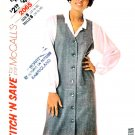 McCall's Sewing Pattern 2065 Misses' Size 14-18 Button Front Long Sleeve Blouse Straight Jumper