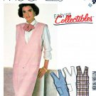 McCall's Sewing Pattern 2074 Misses' Size 12 Straight V-Neck Patch Pocket Lined Jumper