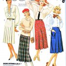 McCall's Sewing Pattern 2076 Misses' Size 8 Classic Pleated Wrap Skirts Two Lengths