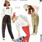 McCall's Sewing Pattern 2078 Girls' Size 12 Long Tapered Pants Knit Stirrup Leggings