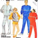 McCall's Sewing Pattern 2080 Unisex Misses Mens Chest Size 44-46 Knit Sweatsuit Jacket Pants top