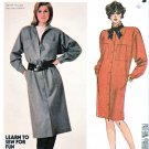 McCall's Sewing Pattern 2094 Misses' Size 16 Front Button Long Sleeve Straight Coat-Dress