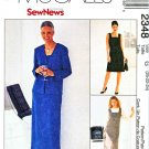 McCall's Sewing Pattern 2348 Misses' Size 20-24 Easy SewNews Straight Dress Jumper Jacket