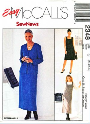 McCall�s Sewing Pattern 2348 Misses� Size 20-24 Easy SewNews Straight Dress Jumper Jacket