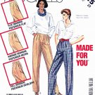 McCall's Sewing Pattern 2315 Misses' Size 10 Long Pleated Front Fitted Pants Trousers