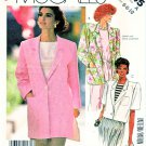McCall's Sewing Pattern 2345 Misses Size 6-10 Easy Front Button Long Short Sleeve Unlined Jacket