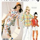 McCall's Sewing Pattern 2464 Girls' Size 7 Easy Button Front Big Shirt Cropped Pants Shorts