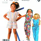 McCalls Sewing Pattern 2522 Girls Size 3 Easy Sleeveless Jumpsuit Romper Sunsuit Belt