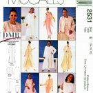 McCall's Sewing Pattern 2531 Misses' Size 6-10 Formal Duster Jacket Top Pants Skirt Stole