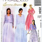 McCall's Sewing Pattern 2534 Misses Sizes 20-24 Formal Evening Unlined Jacket Top Skirt