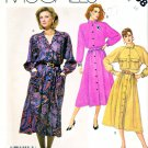 McCall's Sewing Pattern 2608 Misses' Size 16 Front Button Gathered Skirt Long Sleeve Dress Belt