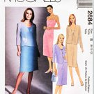 McCall's Sewing Pattern 2684 Misses Size 8-12 Unlined Jacket Straight Sleeveless Dress
