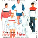 "McCall's Sewing Pattern 2714 Men's Size Chest 42-44"" Workout Wardrobe Sweatshirt Pants Shorts"