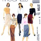 McCall's Sewing Pattern 2726 Misses' Size 8-12 Easy Straight Fitted Skirts Three Lengths