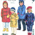McCall's Sewing Pattern 2785 M2785 Children's Boys Girls Size 5 Unlined Duffle Coat Detachable Hood