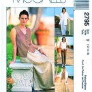 McCall's Sewing Pattern 2795 Misses Size 12-16 Wardrobe Shirt-Jacket Top Pants Long Bias Skirt