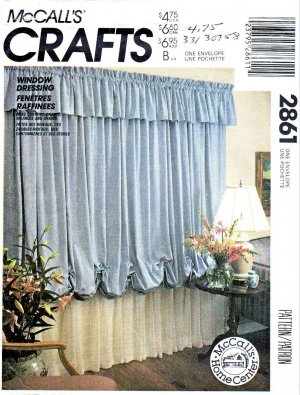 McCall&acirc;s Sewing Pattern 2861 Window Dressing Valance Curtains Drapery Drapes Blinds