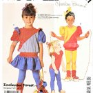 McCall's Sewing Pattern 2891 Girls Size 6 Knit Dress Top Bodysuit Tights Leg Warmers Leotard