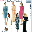 McCall's Sewing Pattern 2892 Misses Size 12-16 Easy Fashion Basic Straight Sheath Dress
