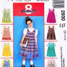McCall's Sewing Pattern 2930 Girls' Size 4-6 Easy Jumper Button Front Blouse Applique