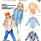 McCall's Sewing Pattern 2941 M2941 Girls' Size 7 Button Front Long Sleeve Blouse Big Shirt Pants