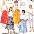McCall's Sewing Pattern 3007 Misses' Size 10-14 Basic Gathered Button Front Skirts Patch Pockets