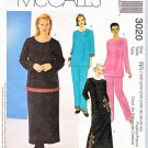 McCall's Sewing Pattern 3020 Womens Plus Size 18W-24W Pullover Top Pull-on Pants Straight Skirt
