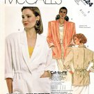 McCall's Sewing Pattern 3024 Misses' Size 10-14 Unlined Button Front Drawstring Waist Jacket