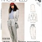 McCall's Sewing Pattern 3025 Misses' Size 6-8 French Connection Unlined Jacket Pants Knit Top