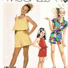 McCall's Sewing Pattern 3052 Girls' Size 7-10 Easy Summer Suntops Tops Shirt Shorts