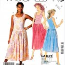McCall's Sewing Pattern 3057 Misses' Size 8-12 Easy Sleeveless Pullover Summer Knit Dress