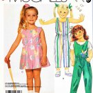 McCall's Sewing Pattern 3099 Girls Size 4-6 Easy Romper Sleeveless Jumpsuit Knit Top