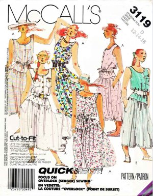 McCall&acirc;s Sewing Pattern 3119 Misses&acirc; Size 12-16 Easy Sleeveless Summer Dress Tie Belt