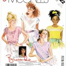 McCall's Sewing Pattern 3122 Girls' Size 12-14 Easy Pullover Extended Sleeve Summer Tops