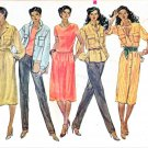 Vogue Sewing Pattern 7565 Misses Size 10 Wardrobe  Dress Pants Tops Skirt Shirt-Jacket Duster
