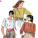 Vogue Sewing Pattern 8609 Misses Size 8-12 Easy Pullover Blouse Short Long Sleeve Front Tuck