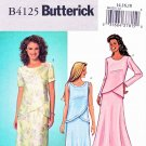 Butterick Sewing Pattern 4125 Misses Size 8-10-12 Pullover Top Flared Skirt 2-Piece Dress