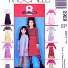 McCall's Sewing Pattern 2929 Girls Size 7-8-10 Easy Sleeveless Layered Dress Jacket Bolero Shrug