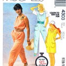 McCall's Sewing Pattern 4303 Misses Size Medium 14-16 Easy 90 Minute Jumpsuit Romper