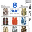 "McCall's Sewing Pattern 8285 Mens Misses Chest Size 31½-32½"" Unisex Button Front Lined Vests"
