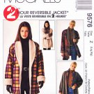 McCall's Sewing Pattern 9576 Misses Size 16-22 2-Hour Reversible Button Front Shawl Collar Jacket