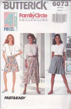 Butterick Sewing Pattern Goucho Pants Capri Knicker 4861 6-12 New