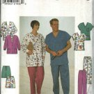 "Simplicity Sewing Pattern 8088 Men's Misses Unisex Chest 30-40"" Scrub Uniform Top Pants Jacket"