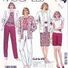 McCall's Sewing Pattern 3004 Misses' Size 8-12 Easy Wardrobe Pants Shorts Top Skirt Jacket