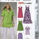 McCall's Sewing Pattern 6085 M6085 Womans Plus Size 26W-32W Summer Wardrobe Dresses Tops Shorts