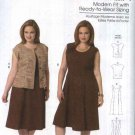 Butterick Sewing Pattern 5620 Womens Plus Size 18W-44W Easy Classic Princess Seam Dress Jacket
