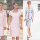 Butterick Sewing Pattern 6456 Misses Size 6-10 Easy Straight Dress Button Front Jacket