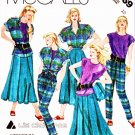 McCall's Sewing Pattern 3169 Misses Size 12 Wardrobe Shirt Knit Top Pleated Skirt Tapered Pants
